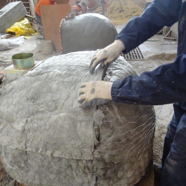 Isolierung eines Holzbackofens 600x600 - Pizzaofen