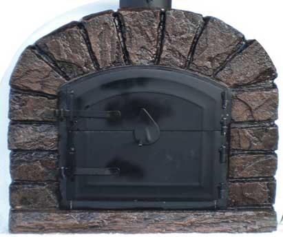 Holzbackofen rustikale Front