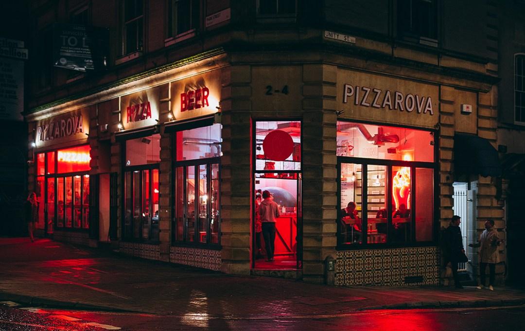 Exterior of Pizzarova Park Street Bristol Location