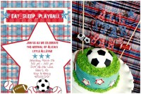 {Baby Shower} Eat, Sleep, & Play Ball! | Pizzazzerie