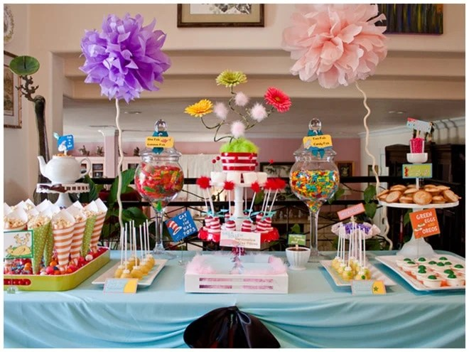 Dr Seuss Baby Shower Ideas, Party Food, Decorations, And