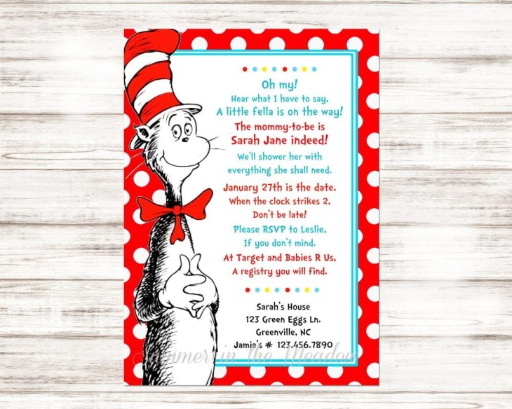 Dr. Seuss Baby Shower Invitation