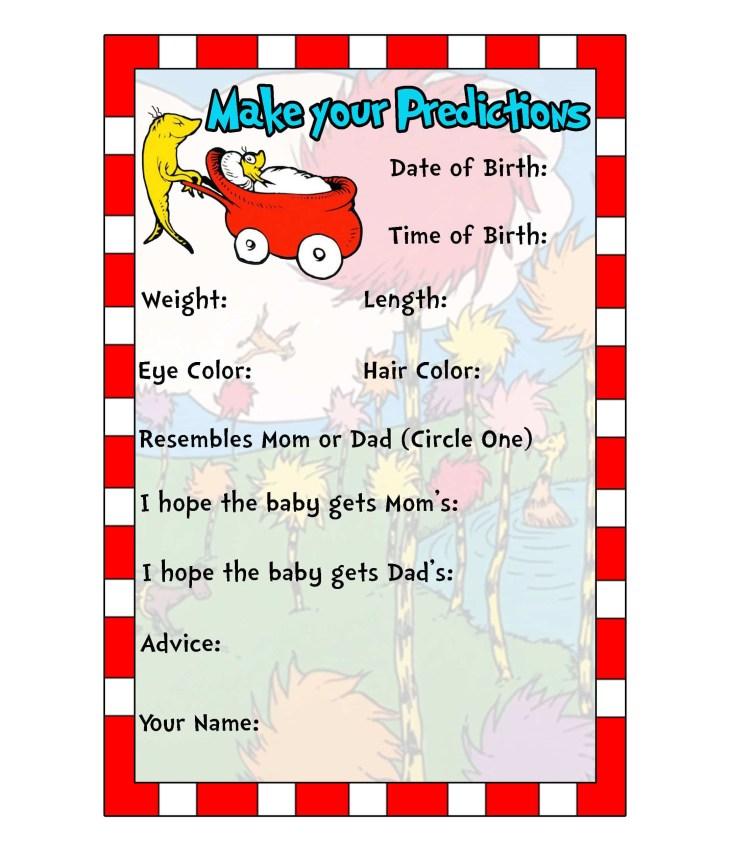 Dr. Seuss Baby Shower Ideas