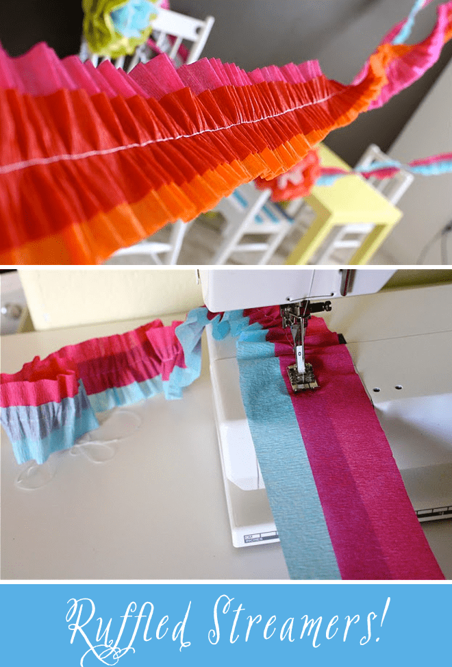 DIY Tutorial How to make Ruffled Crepe Paper Streamers
