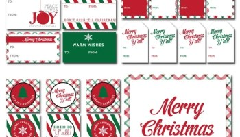 free holiday printable collection 2 color schemes - Free Holiday Printables