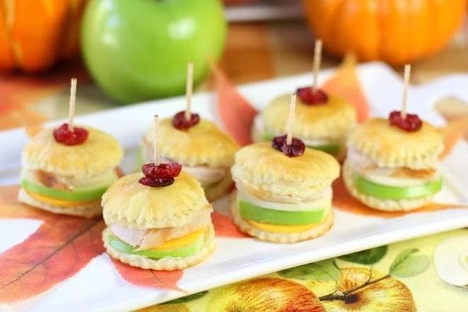 Thanksgiving Turkey Amp Apple Pastry Bites Pizzazzerie