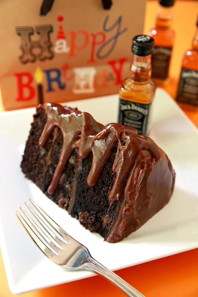 Jack Daniels Cake And Jack Daniels Fudge Frosting