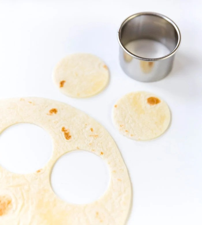 Make mini tortilla rounds!