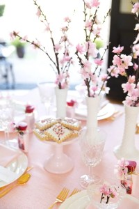 Japanese Cherry Blossom Party Tablescape | Pizzazzerie