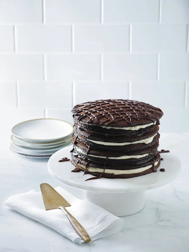 Black and White Pancake Cake from Real Sweet | Pizzazzerie.com