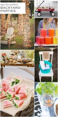 7 Tips for Fabulous Backyard Parties!   Pizzazzerie
