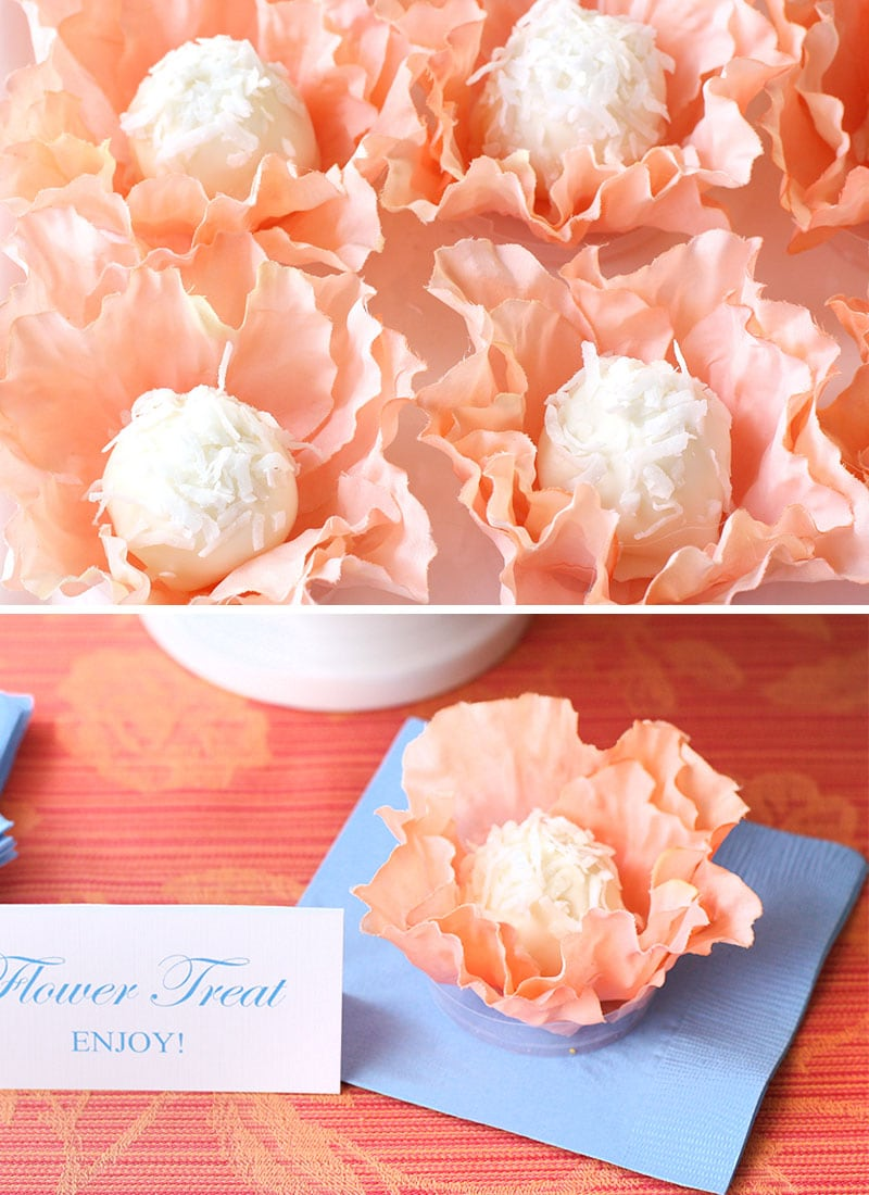 DIY Flower Truffle Favors  Pizzazzerie