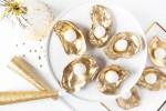NYE Dessert: Champagne Truffles on the Half Shell