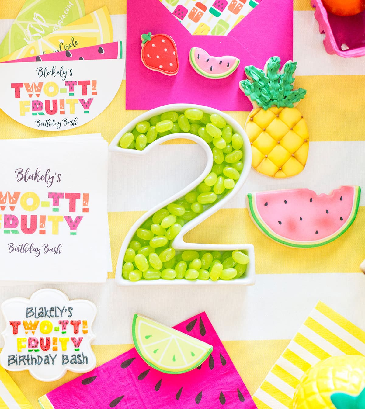 Two Tti Fruity Birthday Party Blakely Turns 2
