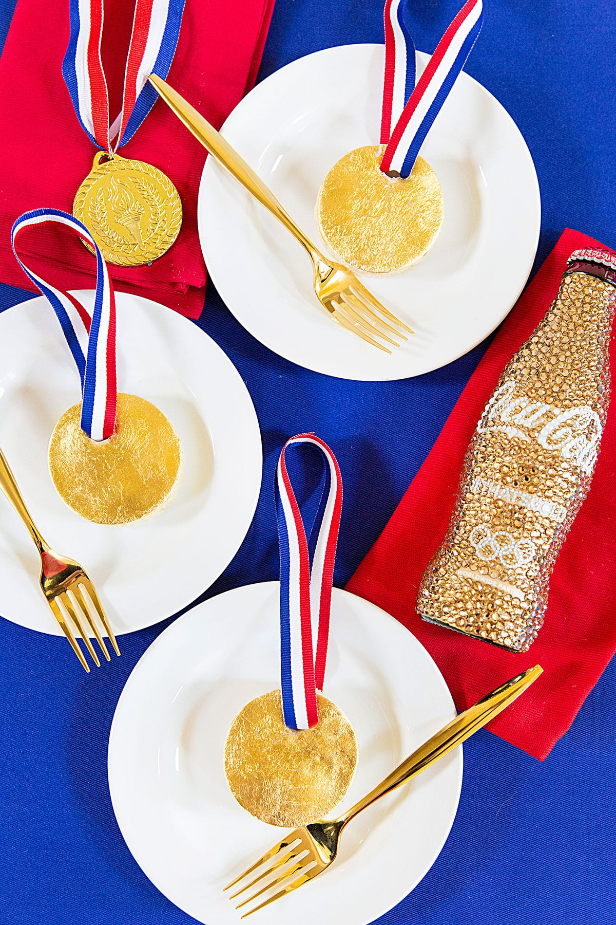 Mini Gold Medal Cakes for the Olympics!