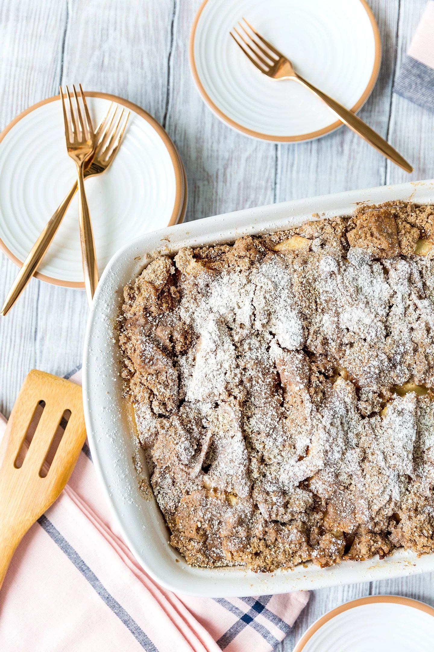 Rustic Apple French Toast Bake
