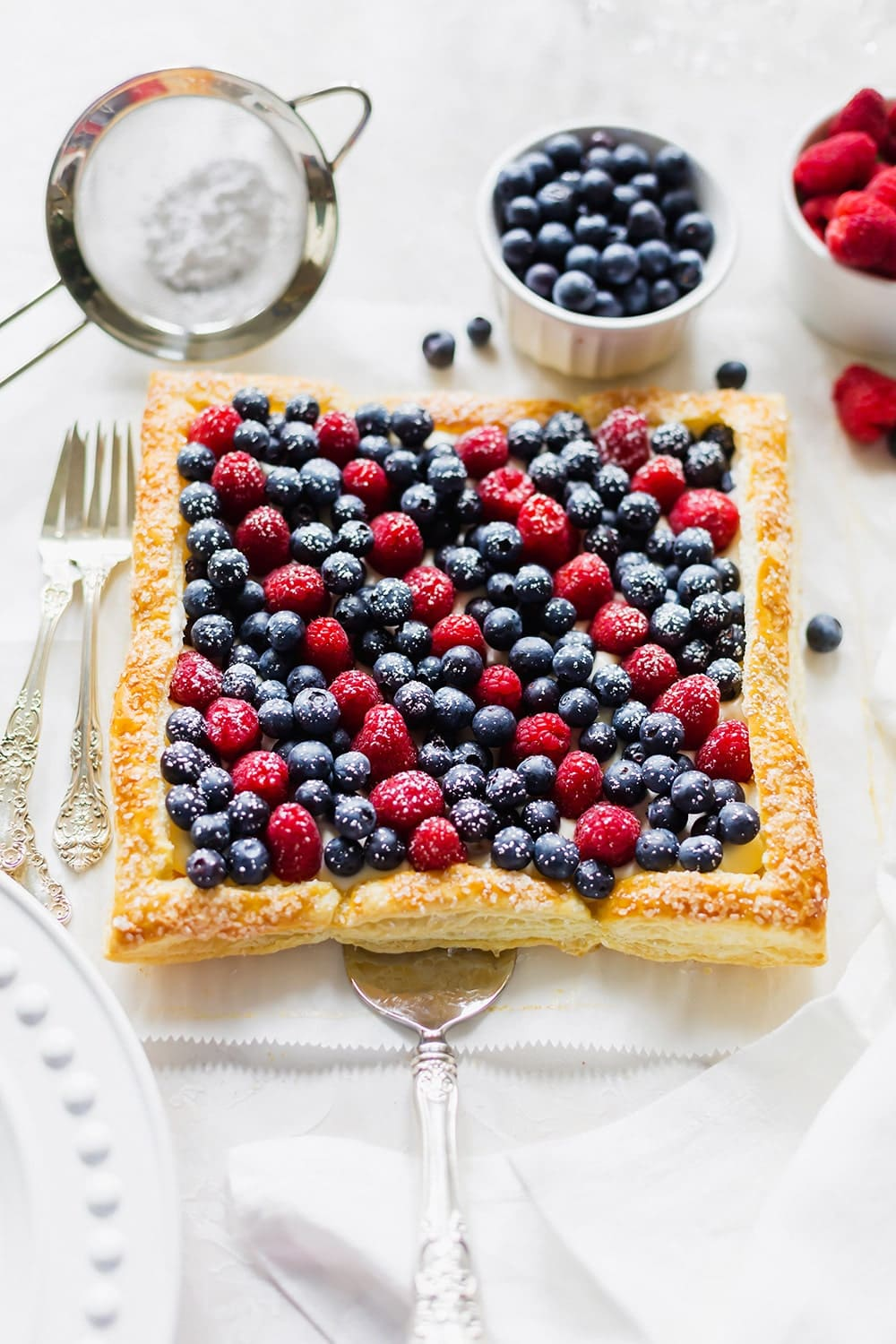 Red White and Blueberry Tart