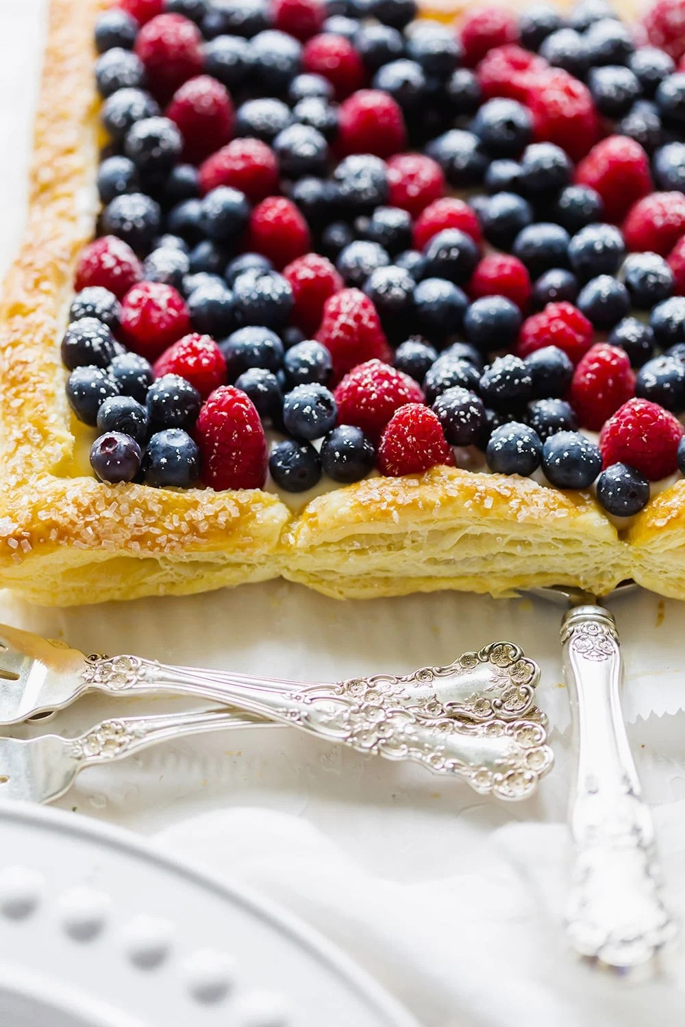 Red White and Blueberry Tart for the 4th