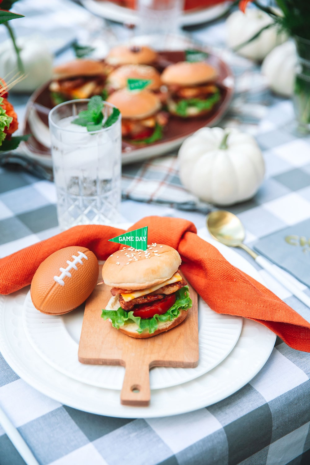 Football Dinner at Home