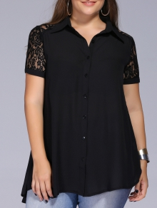 Plus sized blouse, ladies plus sized blouse, feminine lace capped sleeved blouse