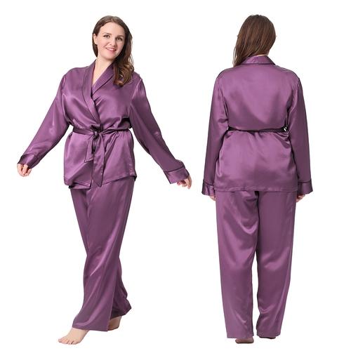 plus sized women's pajamas, silk pajamas for plus sized, luxurious silk pjs
