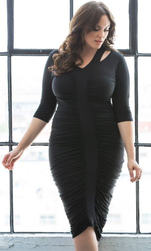 plus sized runched dress, party dress with runching, womens special occasion dress with runching