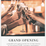 digital invites, celebrations, grand openings