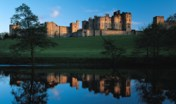 Alnwick Castle from across the river, Northumberland, England UK