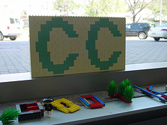 Creative Commons logo in lego
