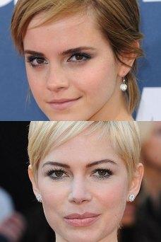 Emma Watson og Michelle Williams rokka stutta hárið