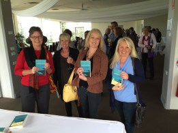 Readers each with a signed copy of Collision ~ from left Janet, Toni, Janice and Kerry