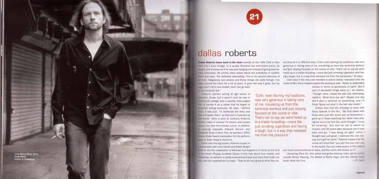 Dallas Roberts Interview  Home at the End of the World CoS