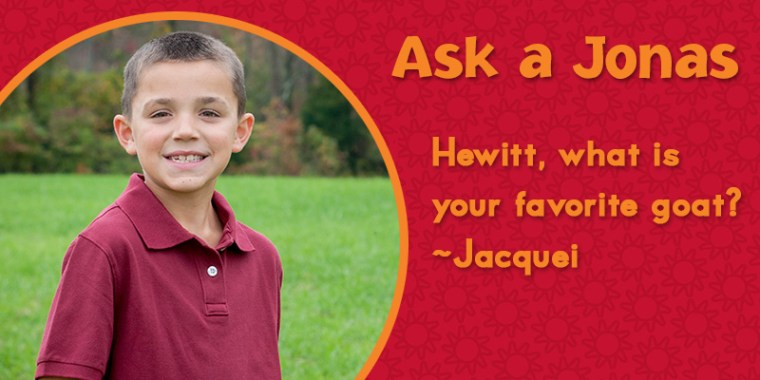 Ask a Jonas hewitt favorite goat_blog