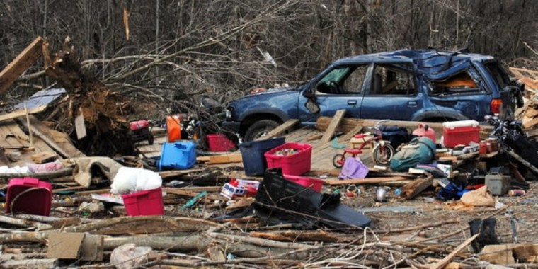 2012 Henryville Indiana Tornado Destruction