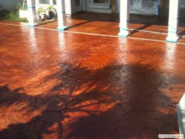 New Orleans Concrete Staining
