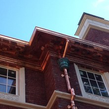 Copper Cornice and Leader Heads