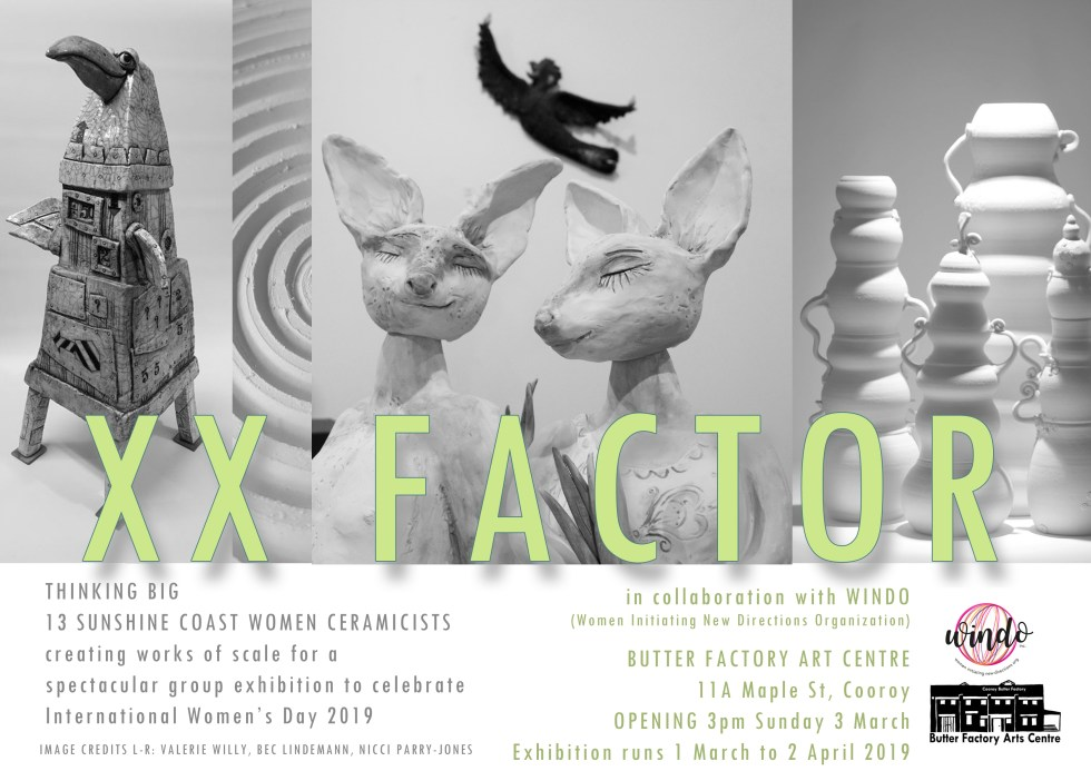 XX Factor exhibition flyer