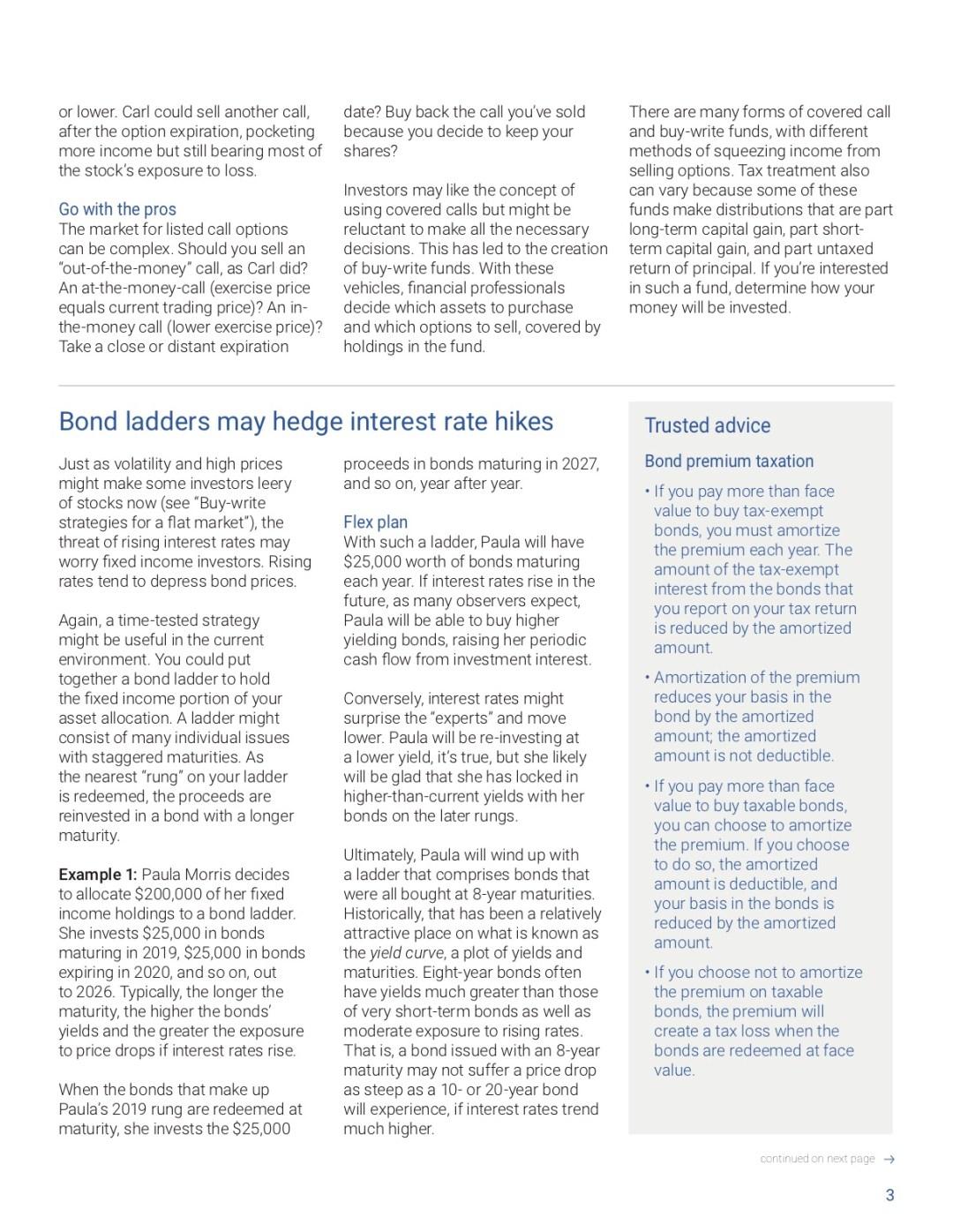 Supreme Court Wayfair, buy-write, bond ladders, tax calendar
