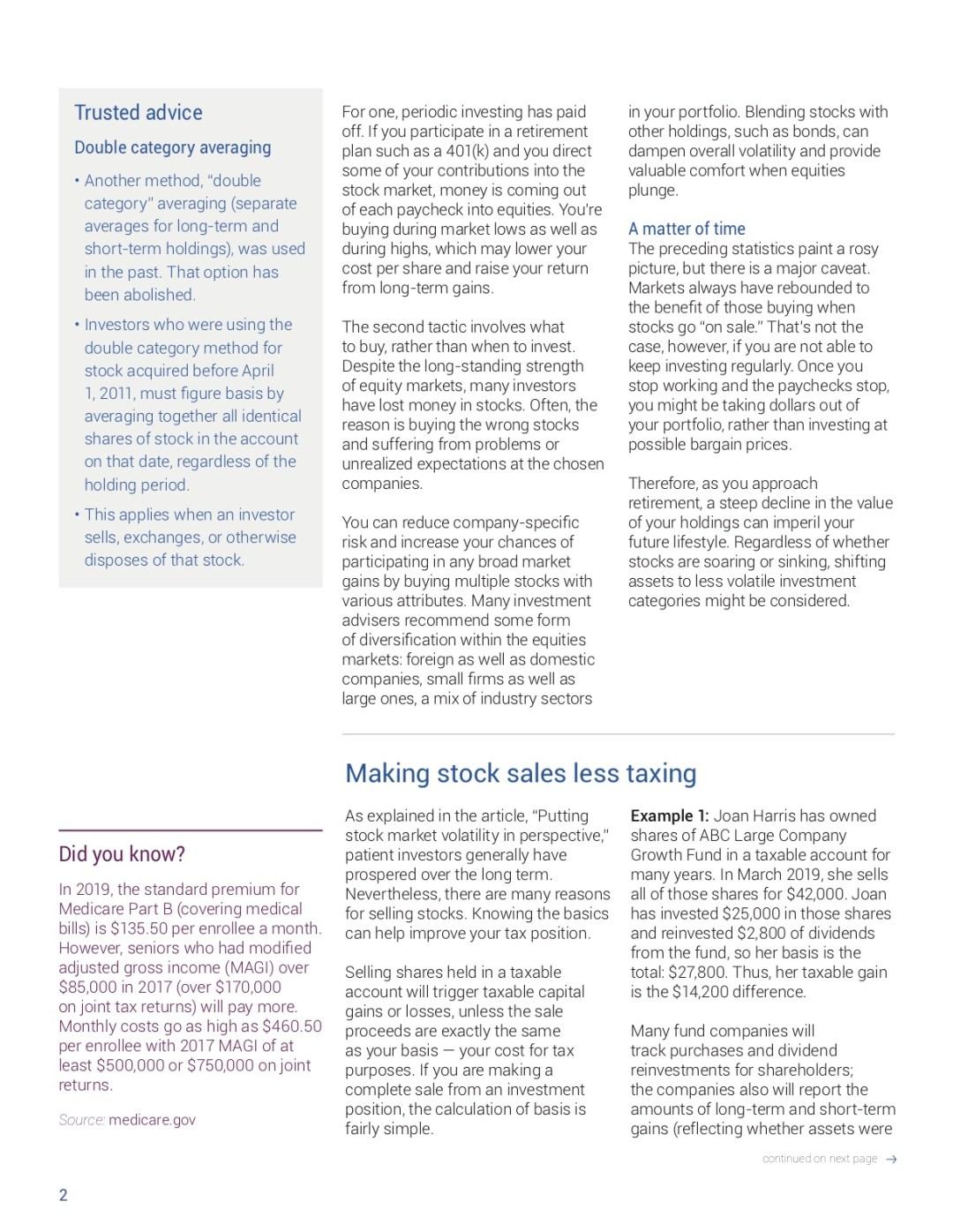 virtual cpa, stock market volatility, stock sales less tax, new tax law