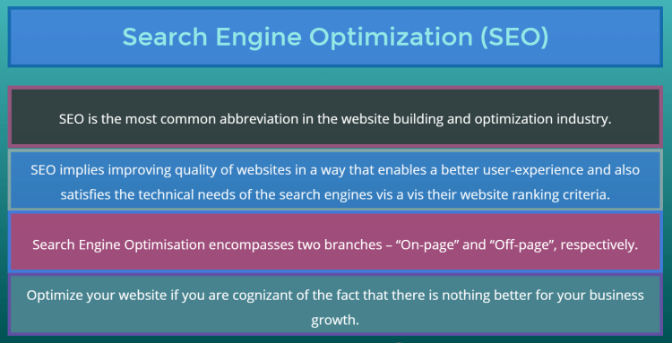 search engine optimization for gaining high visibility on google