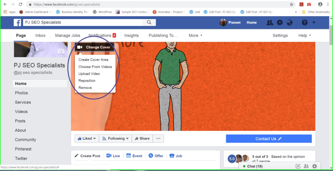 facebook enhances business pages by providing an option to create a cover slideshow