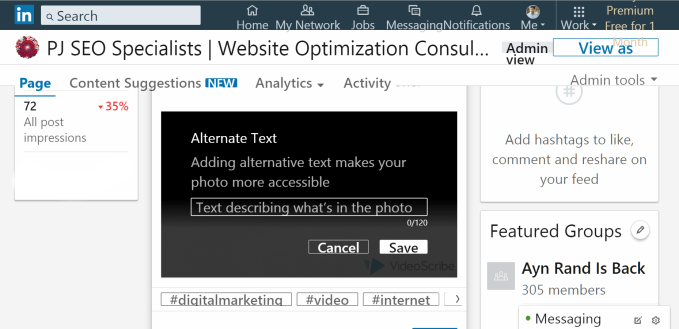 optimize images for visibility by writing an alternative wording and description