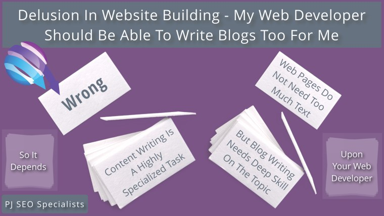 delusion in website building field regards blog post publishing