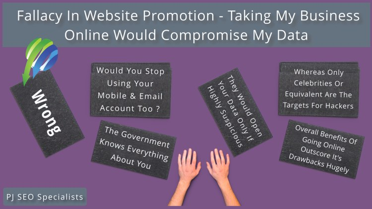 fallacy in website promotion area over risk in going online and digital publicity