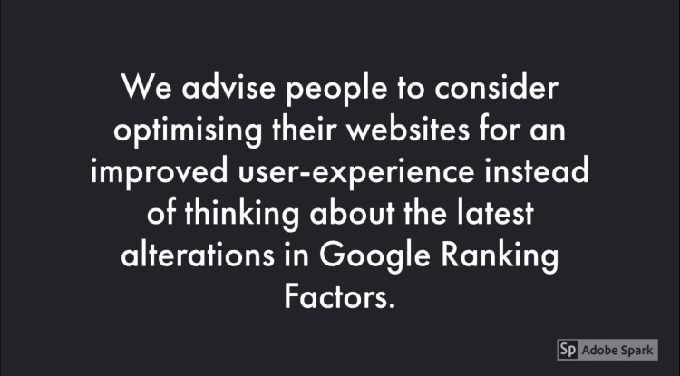 improve user-experience to avoid websites downgraded and prevent losing visibility at google