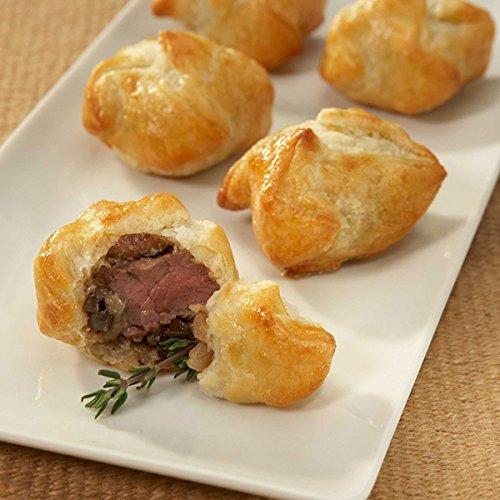 Beef Wellington Bites - A Crowd Pleasing Frozen Gourmet Appetizer (50 Piece Tray)