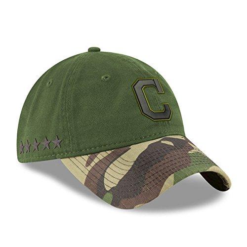 Cleveland Indians New Era 2017 Memorial Day 9TWENTY Adjustable Hat - Green/Camo