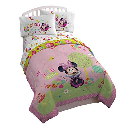Disney Minnie Mouse Bowtique Garden Party 3 Piece Twin Sheet