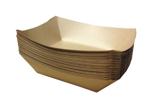 Brown Paper Food Trays   50ct