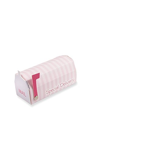 Kate Aspen Set of 24 Baby Shower Special Delivery Mailbox Favor Box (Pink)